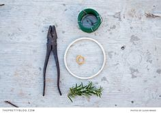 Rosemary Wreath - DIY   {DIYs}   The Pretty Blog