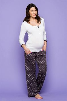 Cute spotty PJ maternity pants