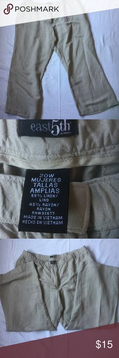East 5th Pants Lightly used size 20W summer Pants. From smoke free home. Make me an offer East 5th Pants