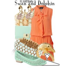 """Want the shoes. """"Swan and Dolphin Resort"""" by lalakay on Polyvore"""