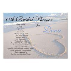 10 Bridal Shower Invitations Starfish on Beach Island Tropical