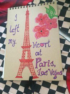 Drawing book cover coloured with beautiful memories of Paris@Vegas