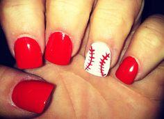 Beautiful red nail design.20 Most Popular Nail Design Ideas #nail #nails