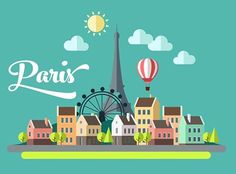 Back to Adobe Illustrator and redesign this image :) :) image source : http://www.shutterstock.com/pic-202883836/stock-vector-flat-design-illustration-eiffel-tower-in-paris-france.html?src=&ws=1 Font : Peaches and Cream ( $65 )  #Paris #Flat #Design #FlatDesign #Peaches and Cream