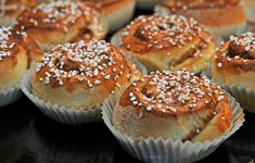 Kanelbullar, or cinnamon buns, are a classic at Swedish coffee parties. #Swedish #treats