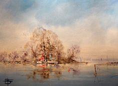 Ridge Wharf oil on canvass 70 x 50cm
