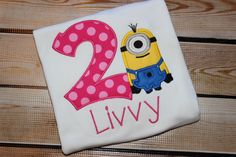 A personal favorite from my Etsy shop https://www.etsy.com/listing/244831628/personalized-minion-inspired-birthday