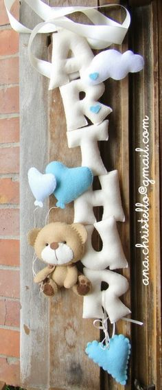 : Nome em feltro/banner/porta de maternidade
