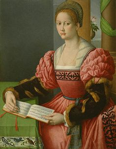 Woman with Music Bacchiacca Italian, about 1540 - 1545 Oil on panel 40 1/2 x 31 1/2 in.