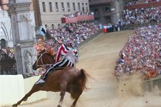 The curve of San Martino at the Palio di Siena