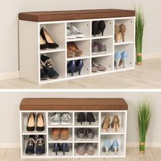 Előszoba Shoe rack storage stand with seat wooden bench shelf organiser shelves Shoe Rack With Seat, Diy Shoe Rack, Shoe Storage, Shoe Racks, Storage Ideas, Armoire, Shoes Stand, Rack Design, Master Closet