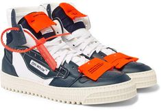 timeless design 0d180 b3728 Off-White 3.0 Off-Court Leather, Canvas And Shell High-Top Sneakers