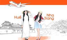 Vé máy bay giá rẻ Huế đi Nha Trang giá từ 470000 đồng