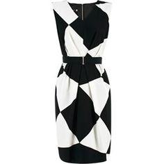 Suknia Andrea czarno-biała