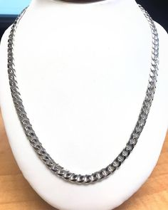 14K SOLID WHITE GOLD MIAMI CUBAN LINK 4.4MM THICK 20 INCHES.  This beautiful 14k White Gold Miami Cuban link chain is all you need this weekend! Shop this chain and more now on our website! Link is in bio ✨ • • • #chains #goldchains #jewelry #miamicubanlink #giftideas #giftsforhim #accessories #fashion #mensfashion #style #mood #friday Solid Gold, White Gold, Gold Chains For Men, 14k Gold Chain, Website Link, Cuban, Necklace Lengths, Gifts For Him, Miami
