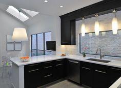contemporary kitchen by Wendt Design Group Powder Room Design, System Furniture, Interior Decorating, Interior Design, Black Kitchens, Living Room Kitchen, Best Interior, Apartment Design, Door Design