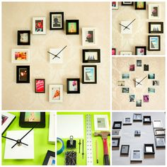 Family Photoframe Clock Ideas