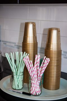 Project Nursery - Pink and Aqua Straws