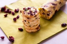 Cranberry Pistachio Cookies by Norbu - Sweeter Life Club Pistachio Cookies, Lemon Cookies, Dried Cranberries, Dried Fruit, Valentines Day Treats, Sugar Free Recipes, Sweet Life, Cookie Dough, Sweet Tooth