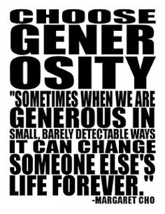 Will you pledge to be a part of #GenerosityDay on February 14th? Join us in small & powerful acts of generosity!
