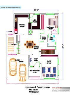 5180Ground_Floor_Plan_50x60_NEWS.jpg | planos | Pinterest | Map ...