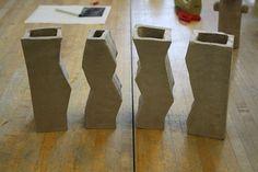 Puzzle Vases | positive/negative space!