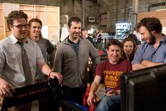 Seth Rogen, James Franco, Judd Apatow and David Gordon Green on the set of Pineapple Express David Gordon Green, Pineapple Express, James Franco, Scene Photo, On Set, Behind The Scenes, Writer, Film, My Style