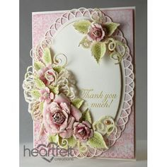 Gallery | Pink Classic Rose Thank You - Heartfelt Creations
