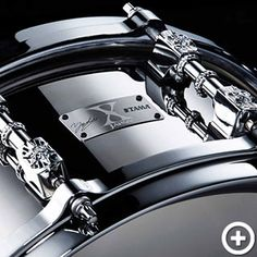 TAMA YOSHIKI (X Japan) Signature Model XY146 Snare Drums (YOSHIKIのサインとX JAPANロゴをあしらった)