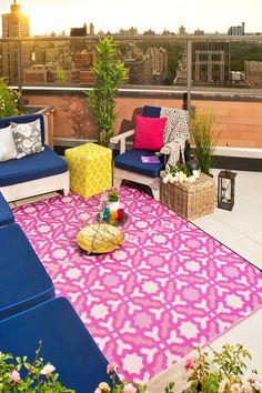 Seville Reversible Indoor Outdoor Rug Multicolor Purple By Fab Habitat On Hautelook