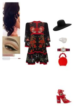 """Untitled #655"" by insafsat on Polyvore featuring Alexander McQueen, Laurence Dacade, Nancy Gonzalez, Maison Michel and Shay"