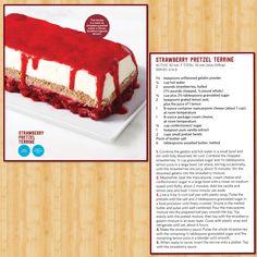 Food Network Magazine's delicious recipe for Strawberry Pretzel Terrine.