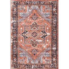 Looking for Ferber Parthi Orange Area Rug Bungalow Rose ? Check out our picks for the Ferber Parthi Orange Area Rug Bungalow Rose from the popular stores - all in one. Orange Area Rug, Blue Area Rugs, Affordable Area Rugs, Persian Pattern, Area Rug Sizes, Rug Material, Round Rugs, Persian Rug, Rug Making
