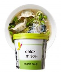 detox miso (v) Miso Soup, Low Calorie Salad, Itsu, Detox Soup, York Restaurants, Salad Bowls, Food Inspiration, Dumplings