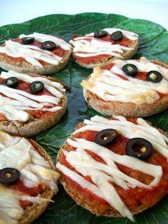 Vegan Mini Mummy Halloween Pizzas | Cheap & Simple Vegan Recipes