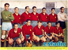 Equipos de fútbol: SELECCIÓN DE ESPAÑA contra Chile 12/07/1953 (2)