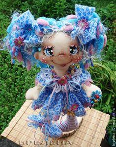 Купить Текстильная кукла Феечка Незабудка. - интерьерная кукла, текстильная кукла, забавная кукла