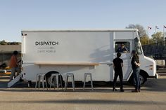 I don't think these guys spent much time thinking-out the designing or doing much to building their truck. -Dispatch coffee truck, Montreal.