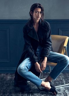 The New Denim: #GeorgiaFowler by #DarrenMcDonald for #HarpersBazaarAustralia March 2015