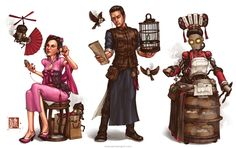 Teahouse Concept by @jamesngart. #ImperialSteamAndLight #Steampunk #CharacterDesign