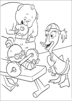 Chicken Little Heavy Lifthing Coloring Page - Chicken Little car coloring pages