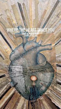 "maricarmenpizanoart on Instagram: Where The Heart Takes You ""Sacred"" Heart, Instagram, Fur, Hearts"