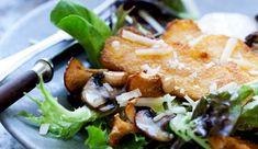 Salat: Lun svampesalat med stegt polenta - ALT.dk