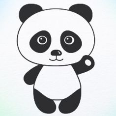 How to draw panda bear