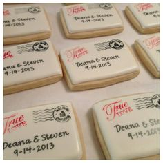 Travel themed sugar cookies for wedding favors by Sugar Shots by Kim https://www.facebook.com/sugarshotsbykim