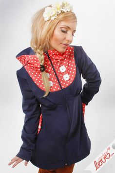 "Softshell jacket ""Emilia"" Marine points Apricot from mydearlove® - shop by DaWanda.com"
