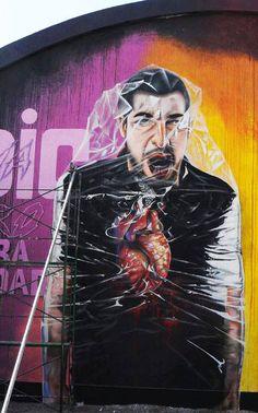 Raaul Cancino Philippe Carrera Encuentro Latinoamericano de Muralismo y Arte Publico, Godoy Cruz, Argentina