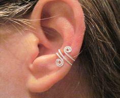 Spiral Ear Cuff (non-pierced) // Etsy