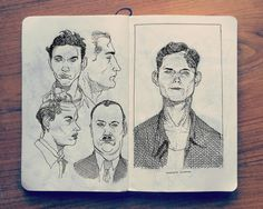 Here is a collection of 2014 sketchbook art by Jared Muralt, an artist based in Switzerland. He has his sketchbook with him at all times and fills them with studies of people, scientific inventions and the animal kingdom.