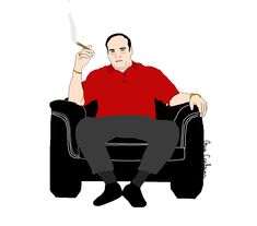 Tony Soprano. ♥ Tony Soprano, Etsy Seller, Darth Vader, Illustrations, Creative, Fictional Characters, Illustration, Illustrators, Drawings